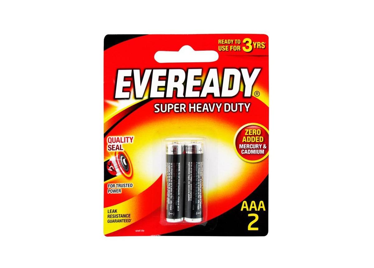Eveready Super Heavy Duty Battery AAA x 2
