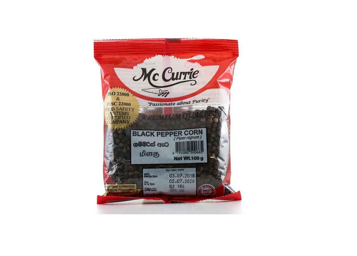 Mc Currie Black Pepper Seed  100g